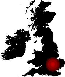 UK Map highlighting St Albans