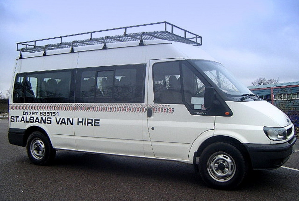 Ford Transit Roof Rack >> Ford 15 Seater Minibus | Find a Vehicle | St Albans Car And Van Hire | 01727 838 151 (AL4 9PZ)
